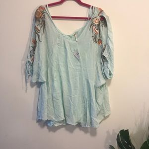 Free people nwt cold shoulder blouse